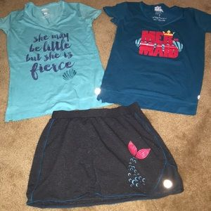Disney Little mermaid athletic outfit size small